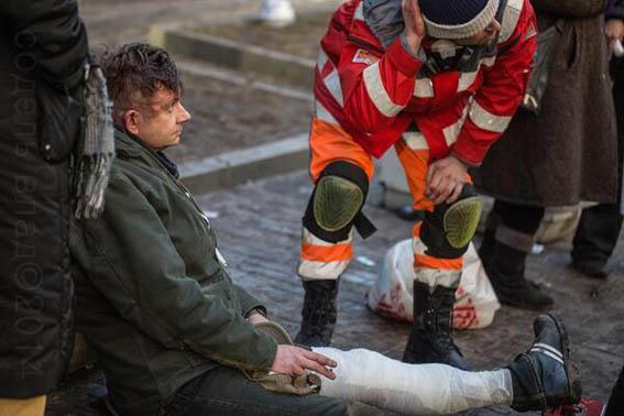 Sasha Pipa injured in Kiev Riots