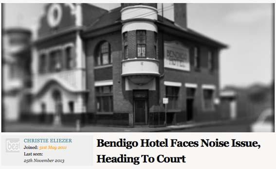 Beat Mag Noise Article Bendigo Hotel