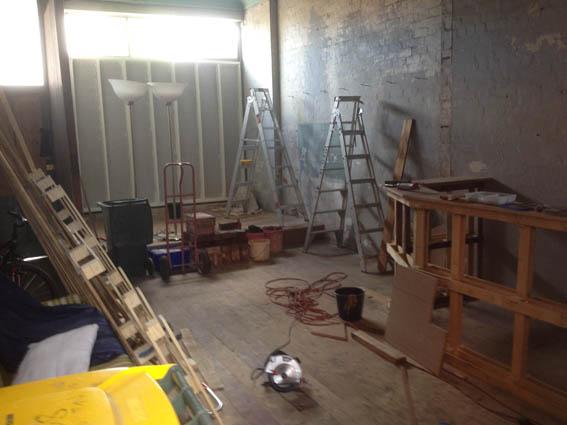 Venue Stage & Bar Under Construction 16Nov14