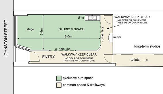 Studio V Floor Plan